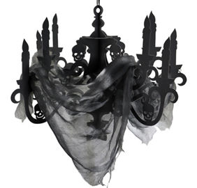 Black Paper Candelabra Haunted House