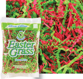 Neighbor easter basket idea party city party city green pink paper easter grass negle Images