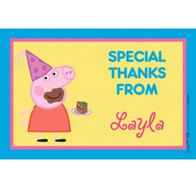Custom peppa pig invitations thank you notes party city custom peppa pig thank you note stopboris Image collections