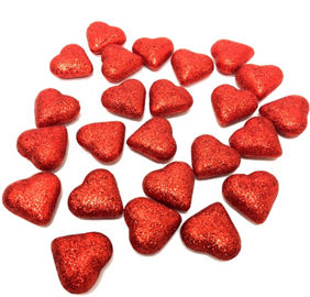 glitter hearts valentines day table scatter 24ct