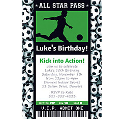 Custom soccer invitations party city custom male soccer ticket invitation filmwisefo