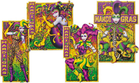 Glitter Fleur-de-Lis Mardi Gras Wreath 30in | Party City