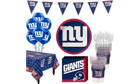 f884bf3e3 Super New York Giants Party Kit for 18 Guests