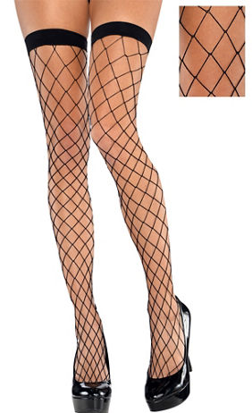 Adult Wide Diamond Gold Fishnet Pantyhose | Party City