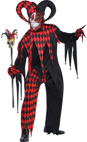Adult Joker's Wild Skeleton Costume | Party City