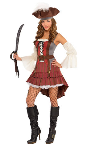 Adult Pirate Body Shaper Costume   Party City