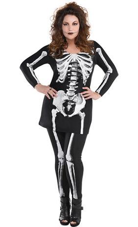 adult bare bone skeleton costume plus size