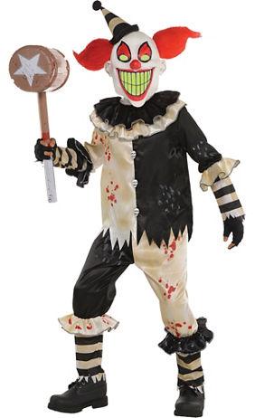 boys carnival nightmare clown costume