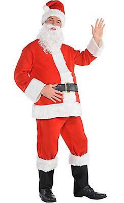 adult flannel santa suit - Santa Claus Red