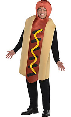adult hot diggity hot dog costume plus size