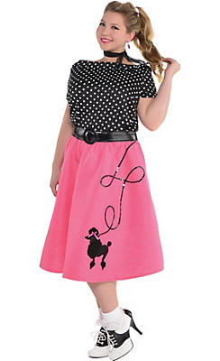 Adult 50s Flair Poodle Skirt Costume Plus Size