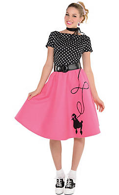 Adult 50s Flair Poodle Skirt Costume