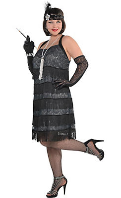 Womens Plus Size Decades Costumes - Adult Plus Size Flapper ...