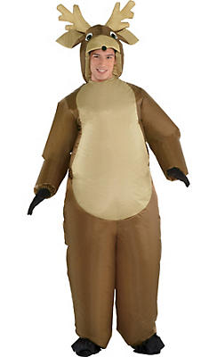 Christmas costumes outfits snowman reindeer costumes party city adult inflatable reindeer costume solutioingenieria Images