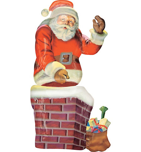 Santa theme party santa claus party supplies party city christmas balloon giant santa chimney spiritdancerdesigns Gallery