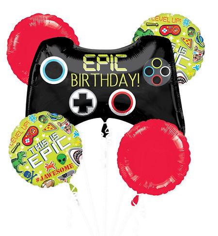 Epic Party Balloon Bouquet 5pc