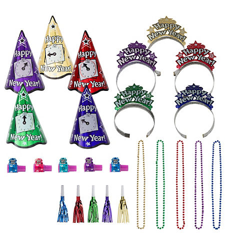 Deluxe Congrats Grad Purple Graduation Party Kit for 36 Guests