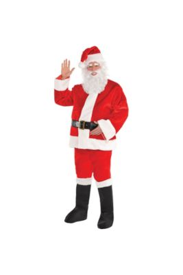 c7e78eb447f Adult Plush Red Santa Suit