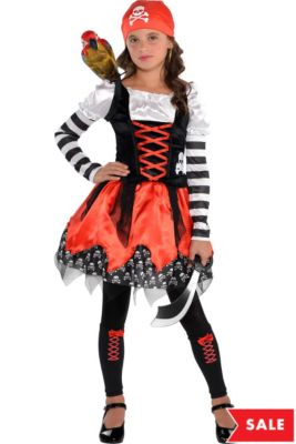 girls crossbone cutie pirate costume