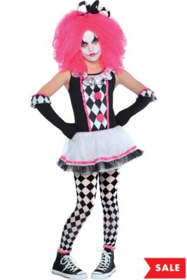 0afa6acc4d Girls Circus Sweetie Clown Costume