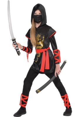 girls dragon ninja costume