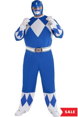 d33c54d3d Adult Blue Power Ranger Costume Plus Size - Mighty Morphin Power Rangers