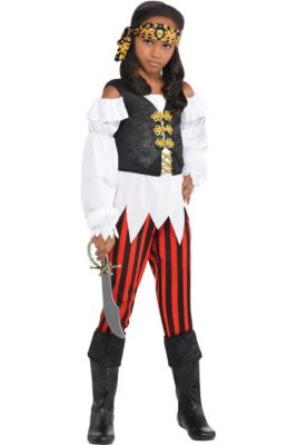 83dfcd4482 Girls Pretty Scoundrel Pirate Costume