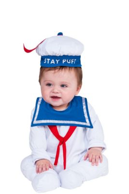 baby stay puft marshmallow man costume ghostbusters