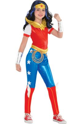 901e076e27253 Girls Wonder Woman Jumpsuit Costume - DC Super Hero Girls