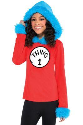 Child Thing 1   Thing 2 Hooded Long-Sleeve Shirt - Dr. Seuss f5e31f703