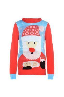 child santa ugly christmas sweater - Dirty Christmas Sweater