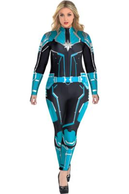 305b92ea66a Adult Captain Marvel Starforce Costume Plus Size- Captain Marvel