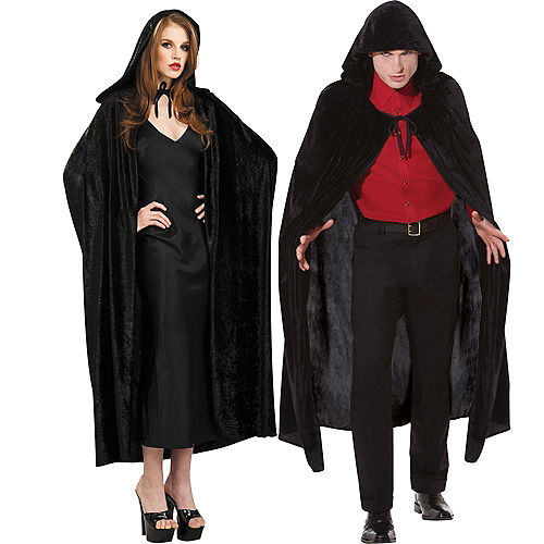 bd409112dd Adult Crushed Velvet Hooded Cloak Deluxe