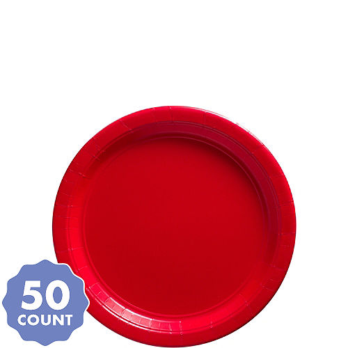 Big Party Pack Red Paper Dessert Plates 50ct dc5bee2d9