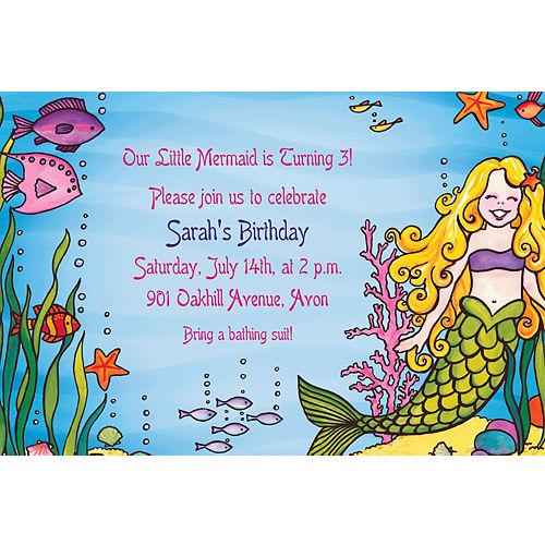Custom Underwater Mermaid Invitations