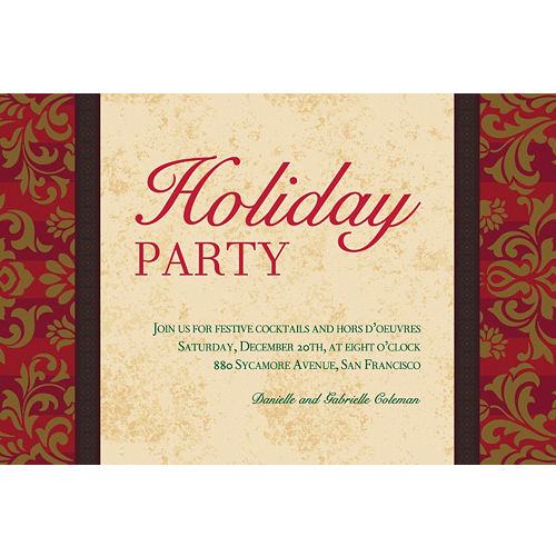 Custom christmas invitations thank you notes party city custom holiday style invitations m4hsunfo