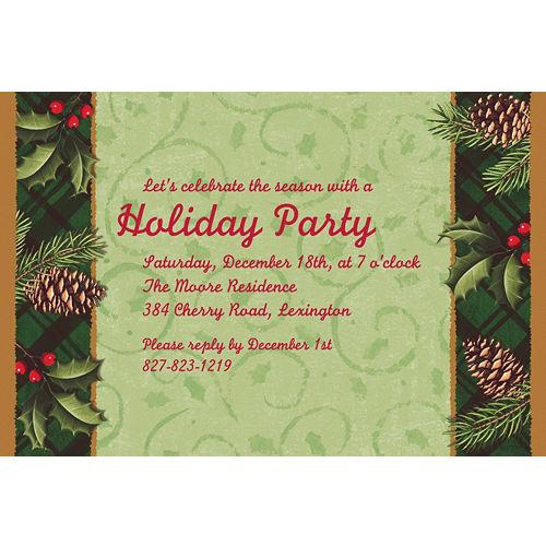 Custom christmas invitations thank you notes party city custom season to remember invitations m4hsunfo