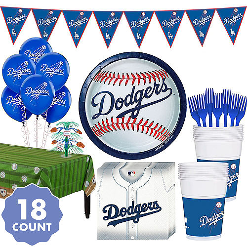 Super Los Angeles Dodgers Party Kit For 18 Guests