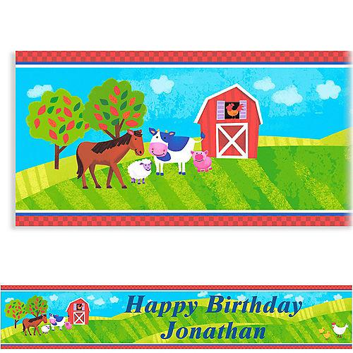 Custom Barnyard Birthday Banner 6ft
