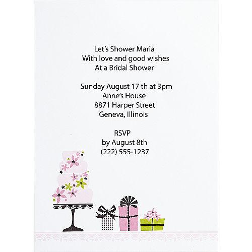 Bridal shower invitations thank you notes invitation kits party enchanted cake printable bridal shower invitation kit 12ct filmwisefo