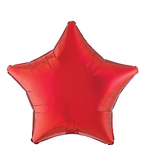 red star foil balloon