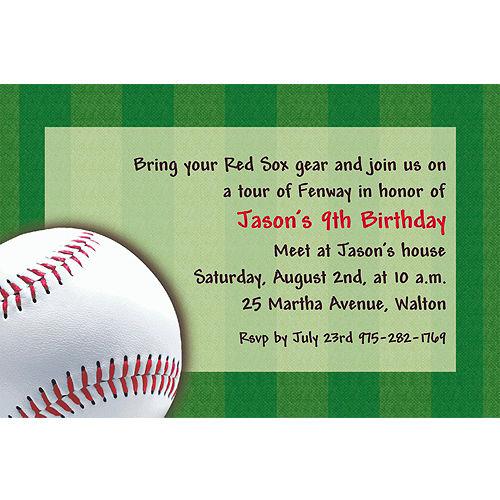 Custom Baseball Fun Invitations
