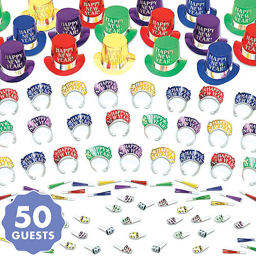 kit for 50 elegant celebration colorful new years party kit