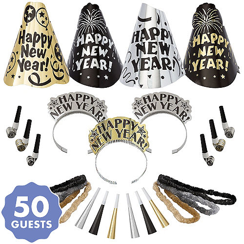 kit for 50 evening sparkle new years party kit