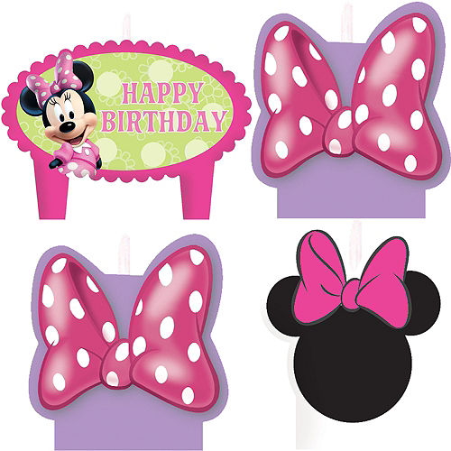 Minnie Mouse Birthday Candles 4ct