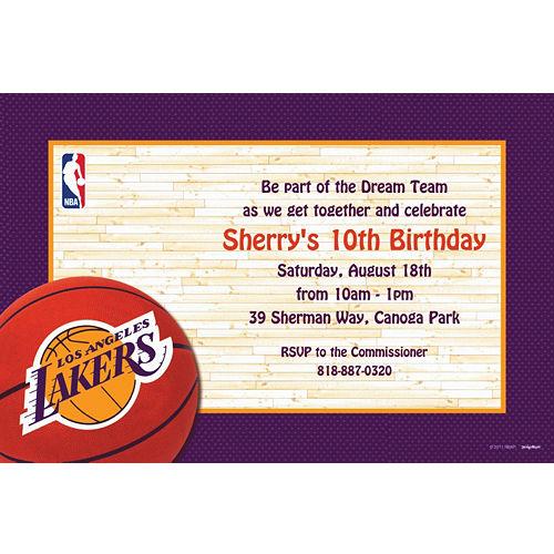 Custom Los Angeles Lakers Invitations