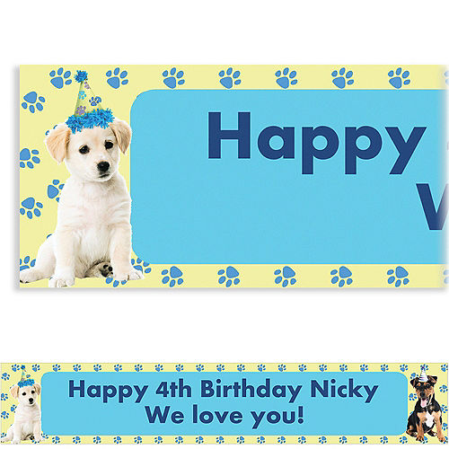 Custom Party Pups Banner 6ft
