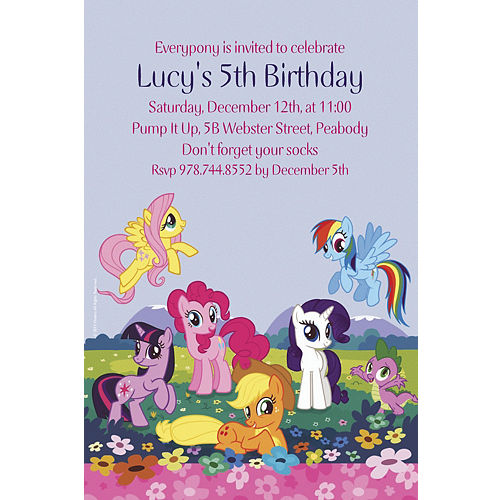 Custom My Little Pony Friends Invitations