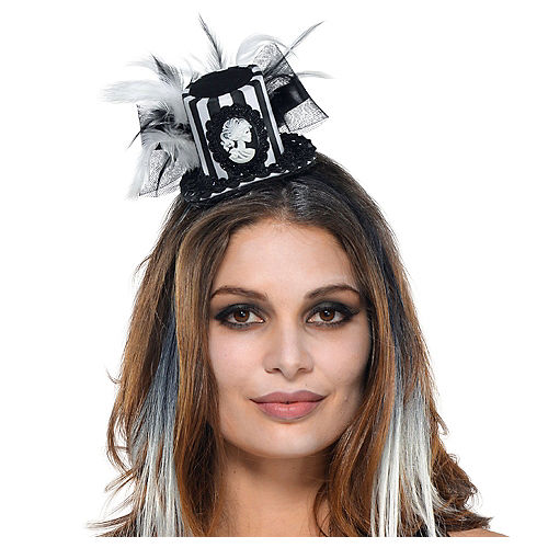 095e8f4425f2e Black   Bone Mini Top Hat