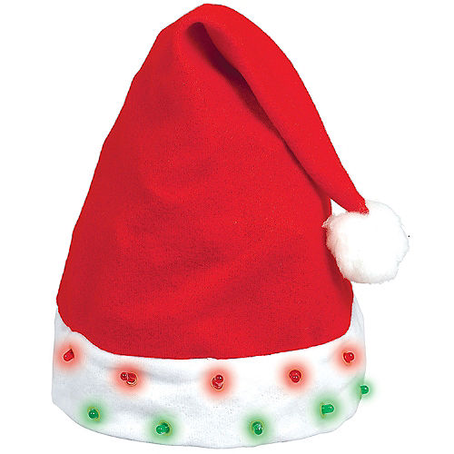 32e8c6ab11141 Light-Up Santa Hat
